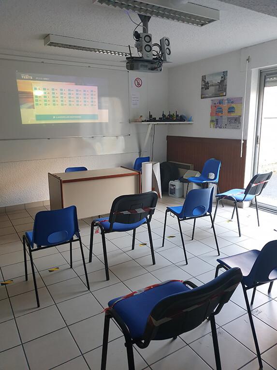 Salle de cours de code de FTSR à Châtellerault